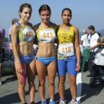 Podio junior donne con Ilaria Dal Magro già Campionessa Italiana